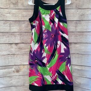 Colorful formal cocktail dress size 14